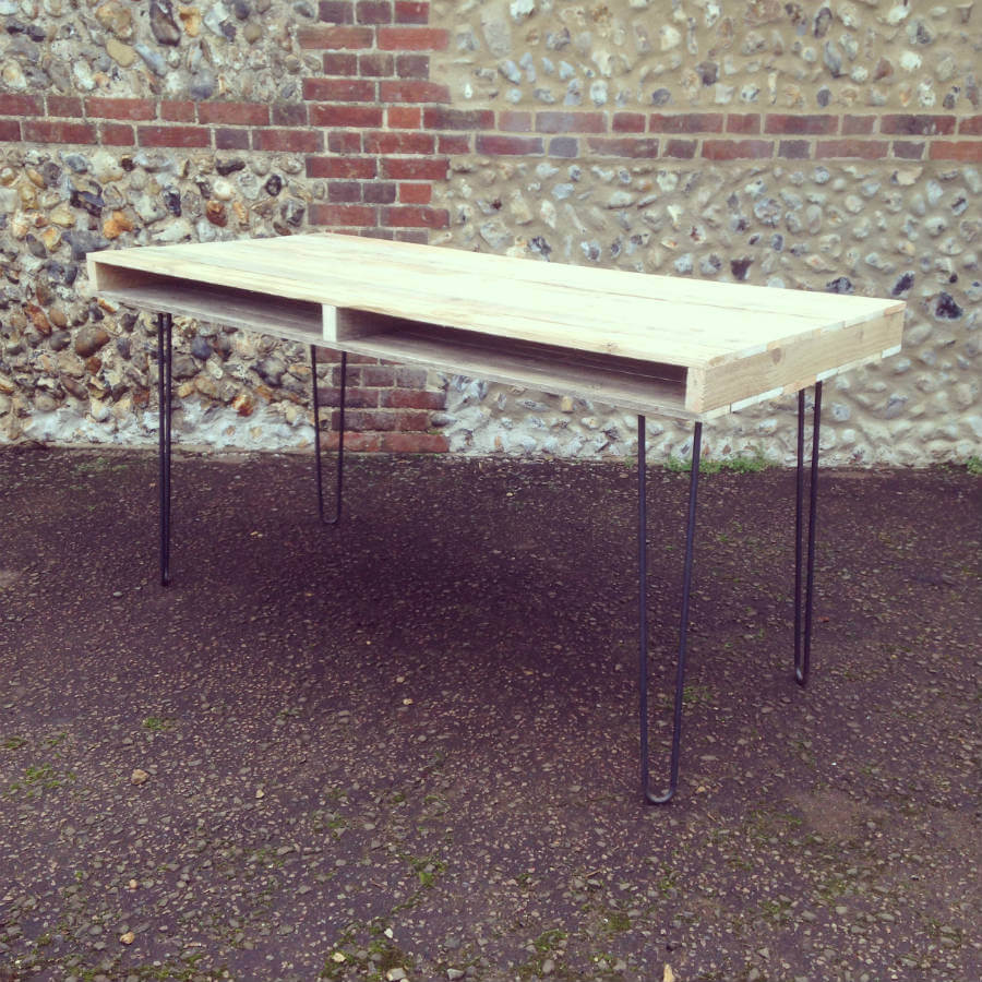 Reclaimed Pallet Dining Table And Bench Hairpin Legs By: Pallet Furniture London