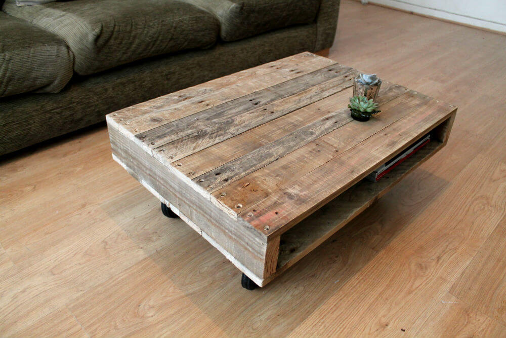 Coffee Table On Wheels Pallet Furniture