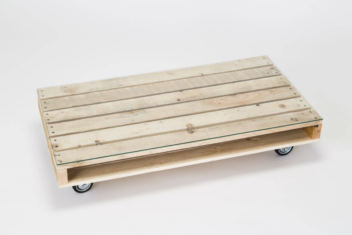 coffee table on wheels with glass top 2