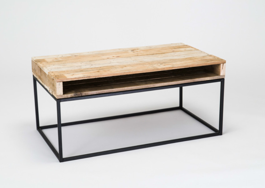 timber topped coffee table