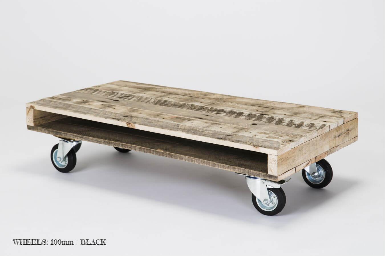 - Pallet Coffee Table On Wheels Gas&Air Studios Pallet Furniture UK