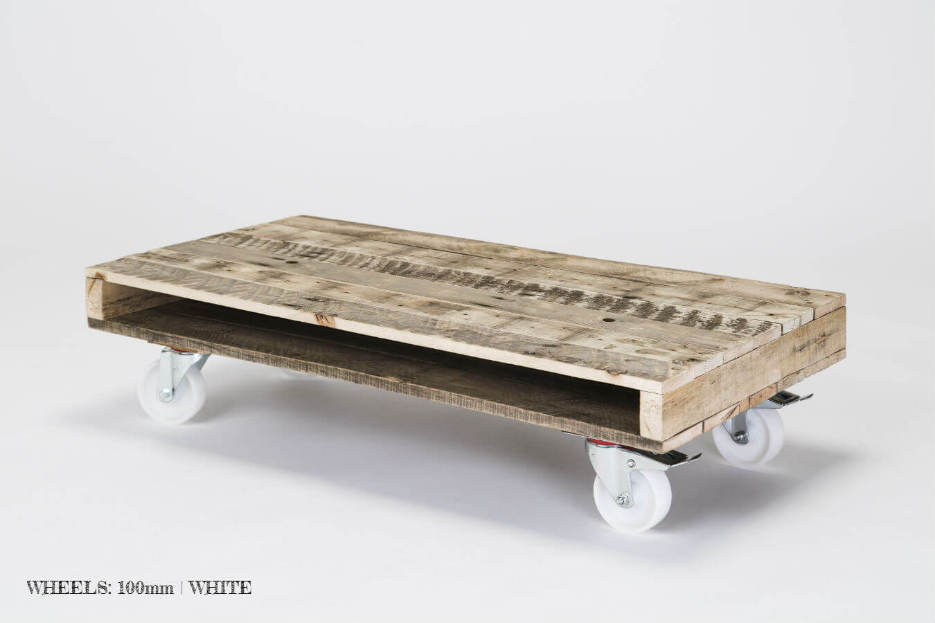 Pallet Coffee Table on Wheels