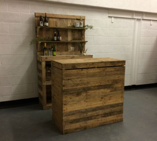 back bar with shelving