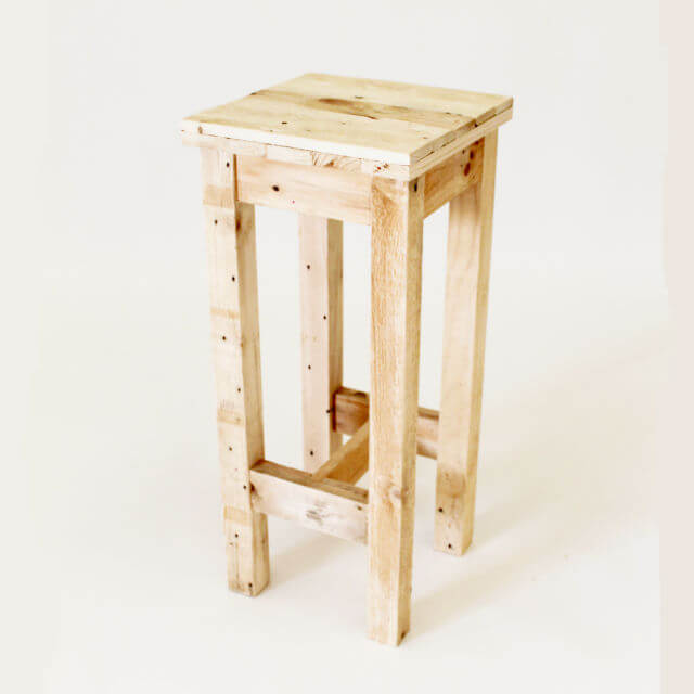 Tower Wooden Bar Stool Pallet Furniture : bar stool from www.gasandairstudios.co.uk size 640 x 640 jpeg 30kB