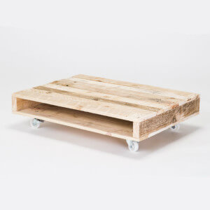 coffee table on wheels white