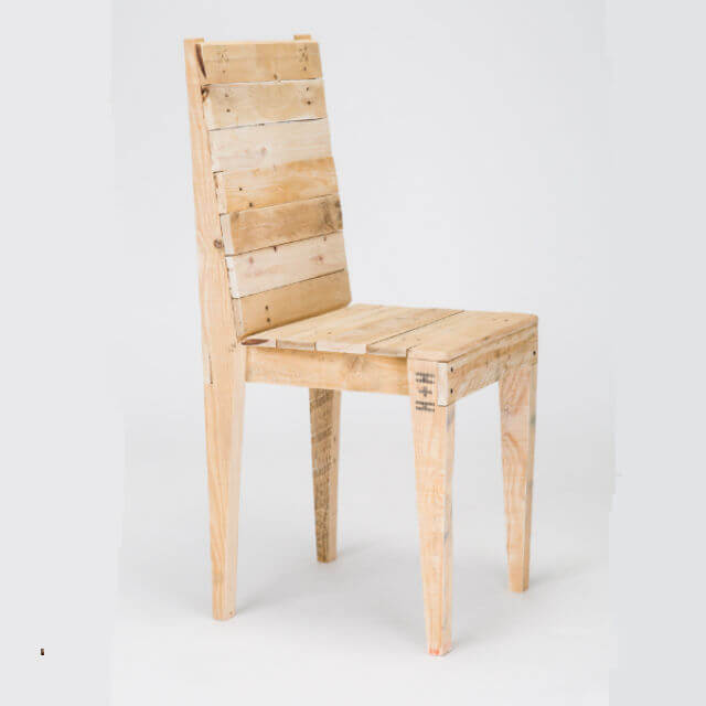 Pallet Kitchen Chairs: Pallet Wood Dining Chair