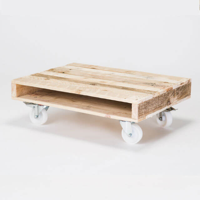 39 On Wheels 39 Small Coffee Table