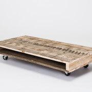 pallet coffee table on wheels black 50mm