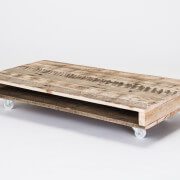 pallet coffee table on wheels white 50mm