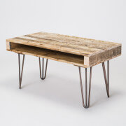 pallet coffee table three prong