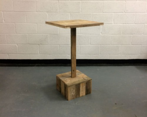 wooden poseur table