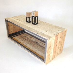 steel and wood coffee table 2