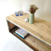 steel and wood coffee table 3
