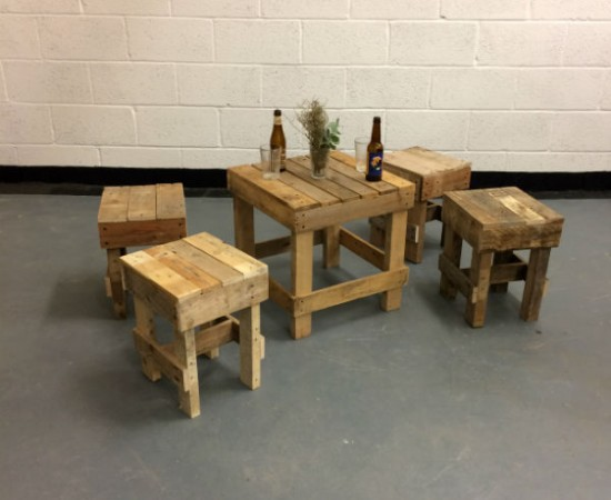 table and stools hire