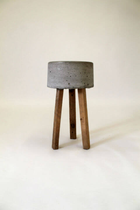 Earth Concrete Amp Timber Stool Pallet Furniture
