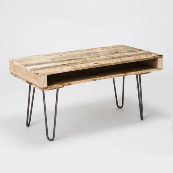 two prong pallet coffee table