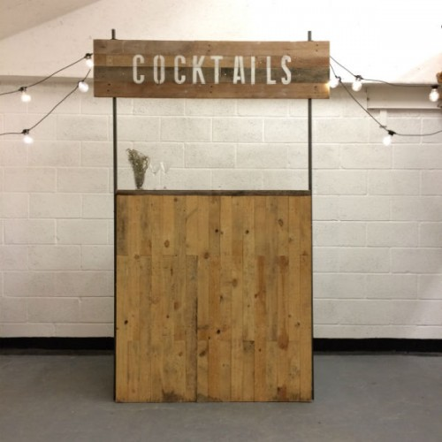 cocktail bar with sign