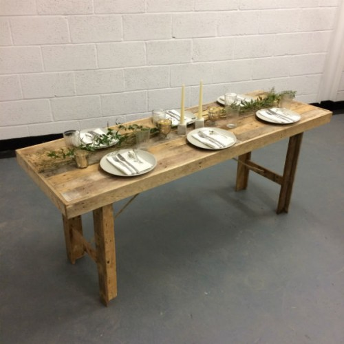 Wooden Table Hire Wedding Furniture