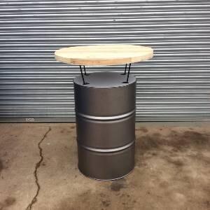 oil drum bar table