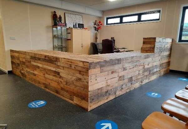 wooden counter